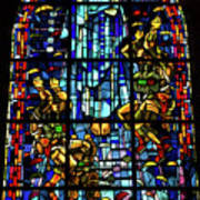 Sainte-mere-eglise Paratrooper Tribute Stained Glass Window Art Print