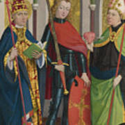 Saints Gregory Maurice And Augustine Art Print