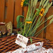 Salami For Slae With Wheat Art Print
