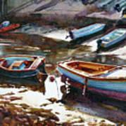 Salcombe Boatyard Art Print