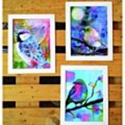 *sale* 3 11 X 14 In. Bird Prints With Art Print