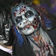 Salem Halloween Makeup Art Print