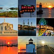Salem Ma Nine Picture Collage Art Print