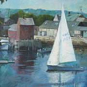 Saling In Rockport Ma Art Print