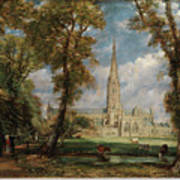 Salisbury Cathedral From The Bishop Grounds Art Print