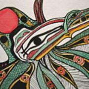 Salishan Style Raven Art Print