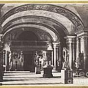 Salle Des Cariatides, Au Mus?e Du Louvre Art Print