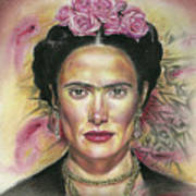 Salma Hayek As Frida Kahlo Art Print