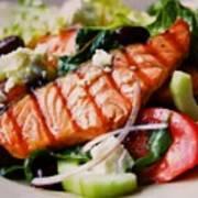 Salmon Salad Art Print
