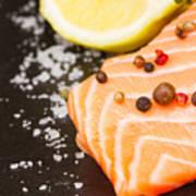 Salmon Steak And Spices Art Print