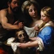 Salome With The Head Of Saint John The Baptist Art Print by Onorio Marinari