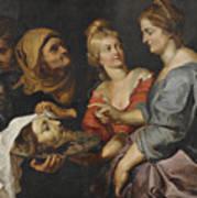 Salome With The Head Of St. John The Baptist Art Print