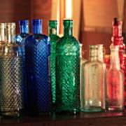 Saloon Bottles Art Print
