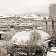 Salt Lake City Landmarks Art Print
