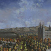 Salt Lake City Temple Square Nineteen Twelve  Art Print