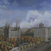 Salt Lake City Temple Square Nineteen Twelve Right Panel Art Print