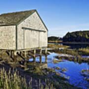 Salt Pond Boathouse  Art Print