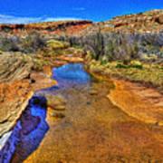 Salt Wash Near Wolf Ranch Arches Np Moab Utah Art Print