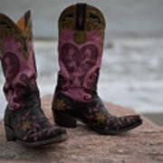Salt Water Boots Art Print