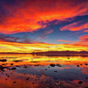 Salton Sea Sunset Art Print
