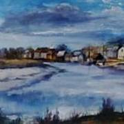 Saltwater Village Riverside Art Print