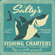 Salty's Fishing Charters Art Print