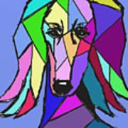 Saluki Colors Art Print