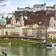 Salzburg City And Fortress  Art Print
