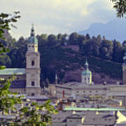 Salzburg City View Two Art Print