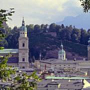 Salzburg City View Two Art Print