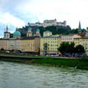 Salzburg Over The Danube Art Print by Carol Groenen