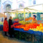 Salzburg Shoppers Art Print