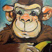 Sam The Monkey Art Print