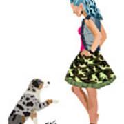 Samantha Art Print by Nancy Levan