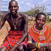 Samburu Couple Art Print