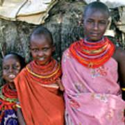 Samburu Sisters Art Print
