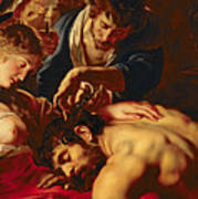Samson And Delilah Art Print by Rubens