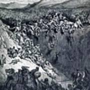 Samson Destroys The Philistines With An Ass Jawbone Art Print