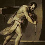 Samson In The Treadmill Art Print