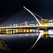 Samuel Beckett Bridge 3 Art Print