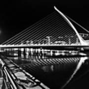 Samuel Beckett Bridge 5 Bw Art Print