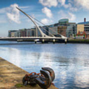 Samuel Beckett Bridge, Dublin, Ireland Art Print