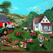 Samuels Alaphabet Farm Art Print