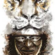 Samurai - Warrior Soul. Art Print