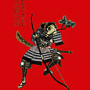 Samurai With Bow Art Print