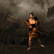 Samural Warrior Art Print