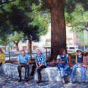 San Antonio Shadowplay Art Print