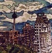 San Antonio Skyline Art Print