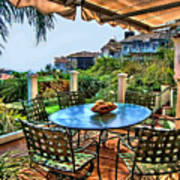 San Clemente Estate Patio Art Print