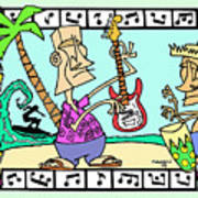 San Clemente Ocean Festival Tiki Art Print